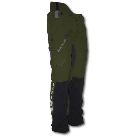Arbortec Breatheflex Chainsaw Trousers Type A Olive Green