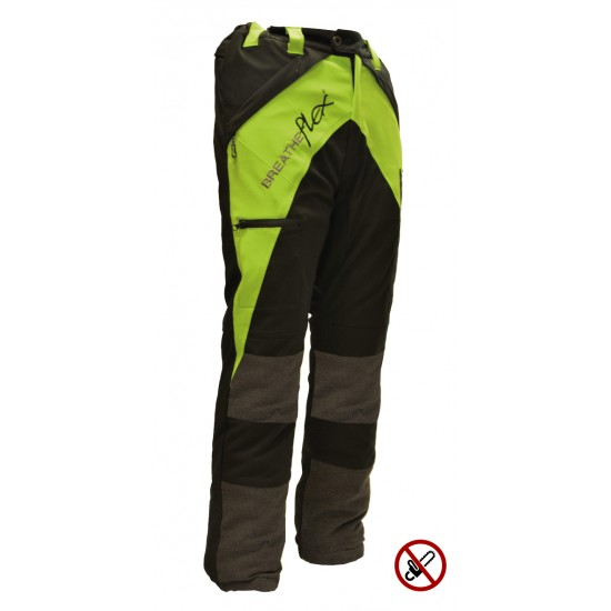 Breatheflex Non-Protective Trouser - Lime / Black