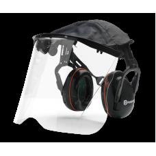 Husqvarna hearing protection with Perspex visor