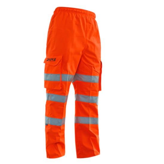 Harkie Waterproof Overtrousers - Hi Vis-Orange