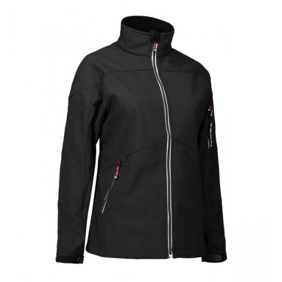 Ladies' ID soft shell jacket black