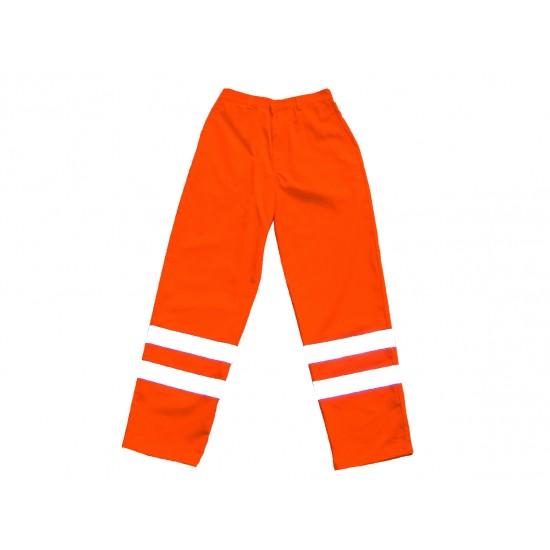 Hi Vis Orange Polycotton Trousers