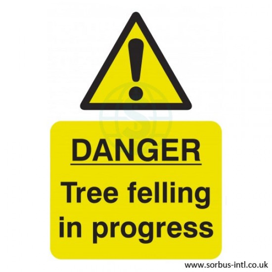 'Tree Felling' Safety Sign