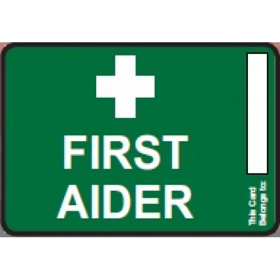 First Aider ID Card