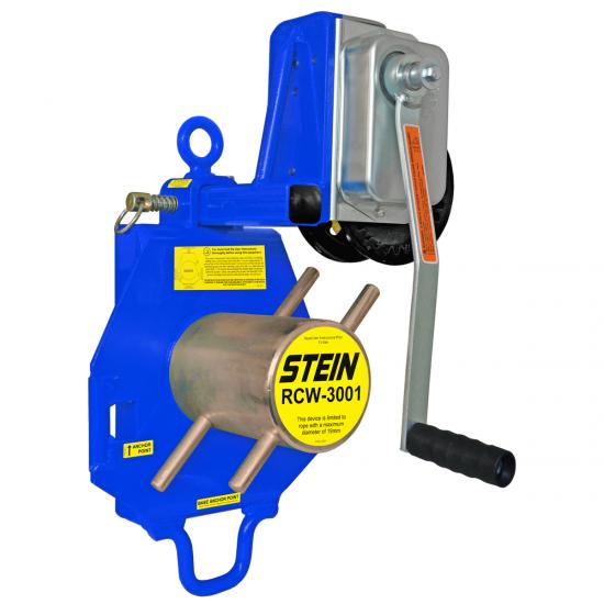 RCW-3001-KIT Single Bollard c/w RCWINCH Lowering Device 3000kg (WLL)