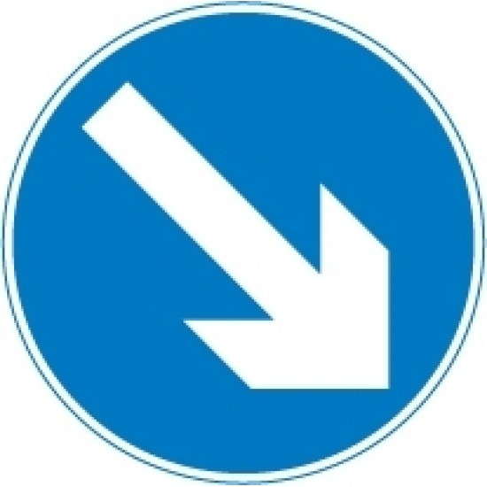 600mm Arrows - Keep Right Sign