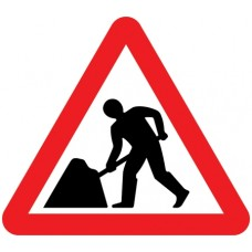 600mm Men at Work Sign