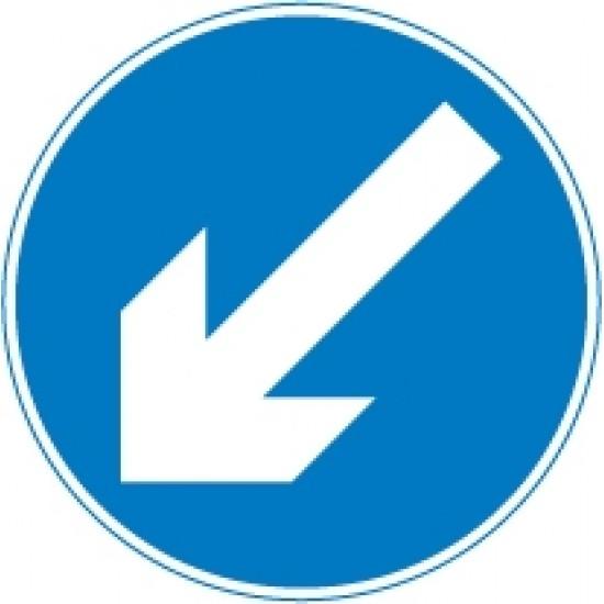 750mm Blue Arrow Reversible Panel Sign