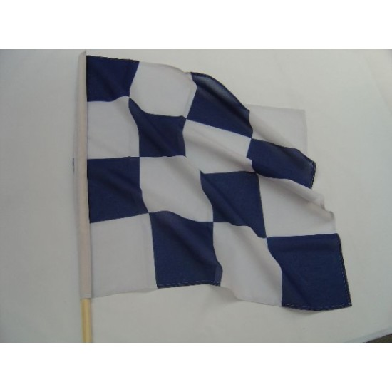 Blue & White Chequered Flag