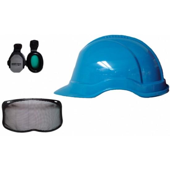 Complete Balance Helmet c/w Sordin Ear Defenders & Visor (Blue or White)