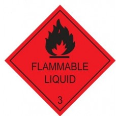 Flammable Liquid Diamonds 100mmx100mm