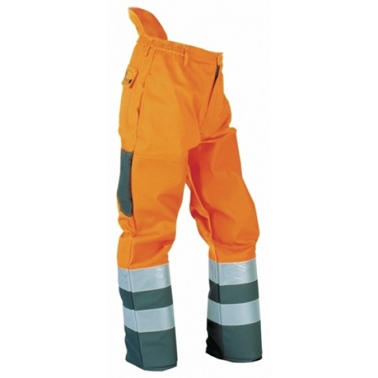 Hi Vis Orange Brushcutter Trousers