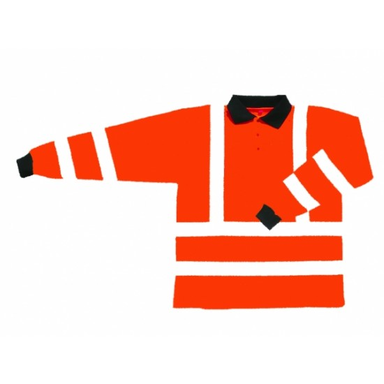 Hi Vis Orange Poloshirt - Long Sleeve