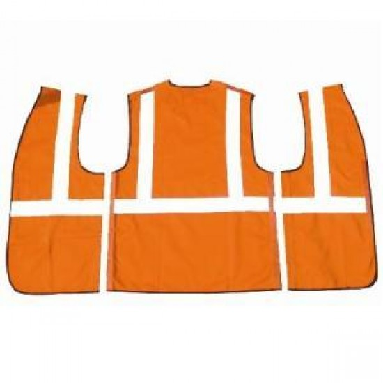 Hi Vis Orange Rip Apart Waistcoat - Velcro Front & Sides