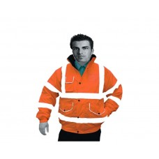 Hi Vis Orange Superior Padded Bomber Jacket