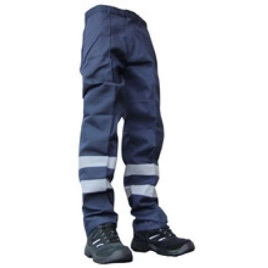 Hi Vis Patch Polycotton Navy Trousers