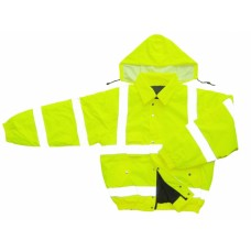 Hi Vis Yellow Flame Retardant Padded Bomber Jacket
