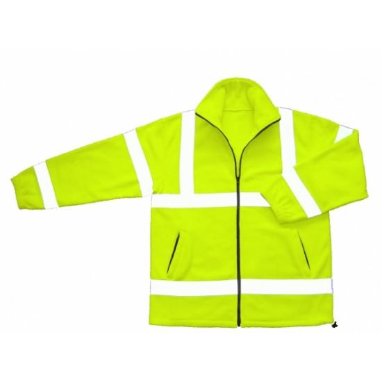Hi Vis Yellow Fleece Jacket Class 3