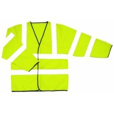 Hi Vis Yellow Jacket Velcro Fastening