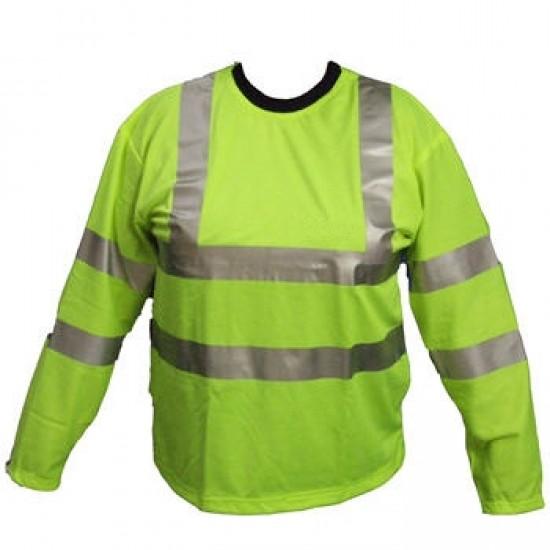 Hi Vis Yellow Long Sleeve T Shirts