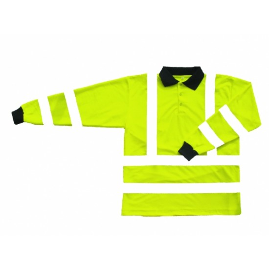 Hi Vis Yellow Polo shirt - Long Sleeve