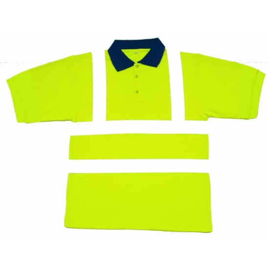 Hi Vis Yellow Polo Shirts, Short Sleeve