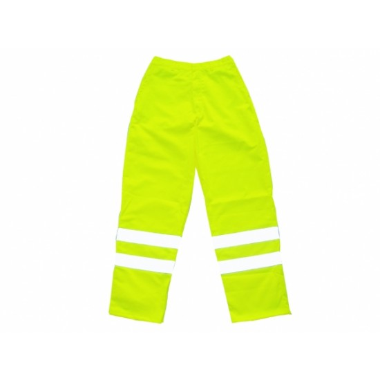 Hi Vis Yellow Polycotton Trousers
