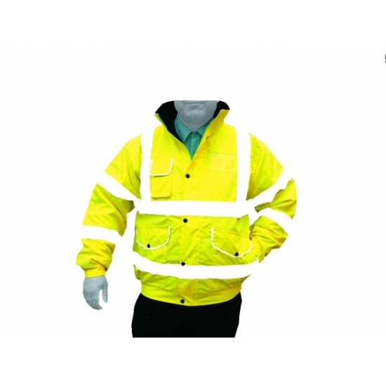 Hi Vis Yellow Superior Padded Bomber Jacket