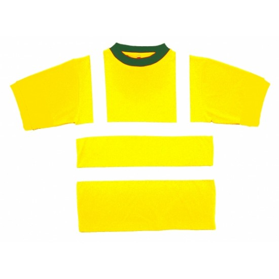 Hi Vis Yellow T Shirts, Short Sleeve