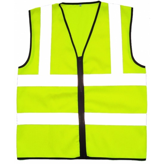 Hi Vis Yellow Tabards - Zip Front