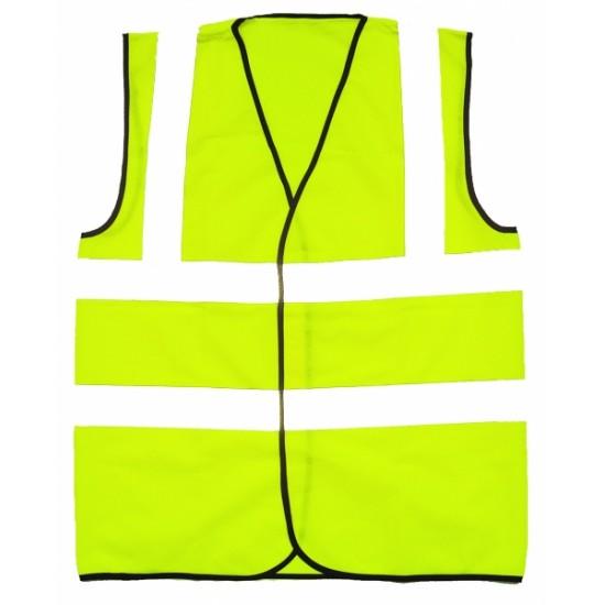 Hi Vis Yellow Waistcoat Velcro Fastening