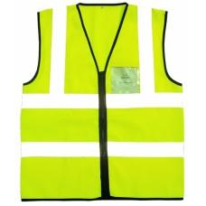 Hi Vis Yellow Waistcoat, Zip front & ID Pocket