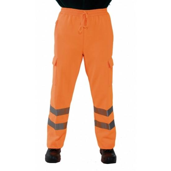 Hi Viz Orange Jogging Trousers - Polycotton