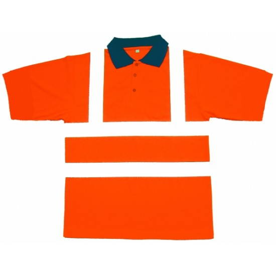 Hi Viz Orange Polo Shirts, Short Sleeve