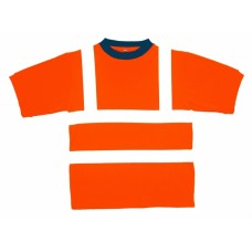 Hi Viz Orange T Shirts, Short Sleeve