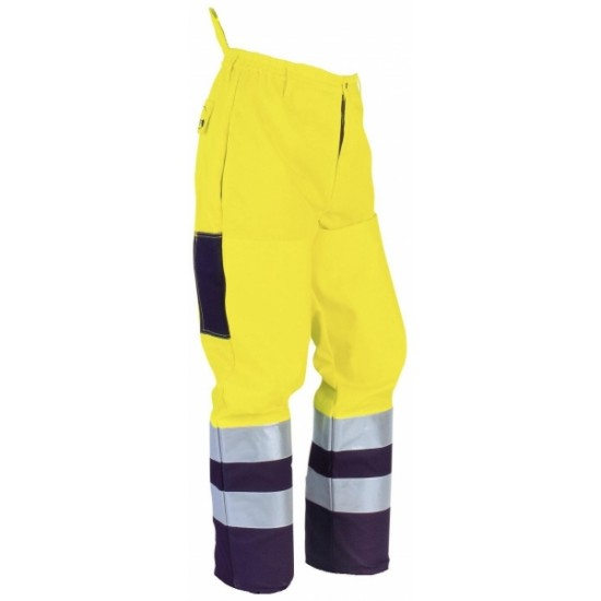 Hi-Viz Yellow Brushcutter Trousers