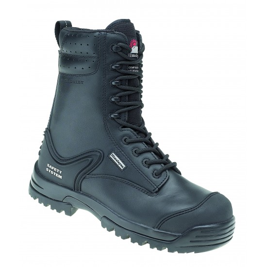 HIMALAYAN Black Leather Combat Boot