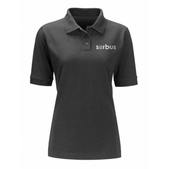 Ladies Sorbus Black Polo