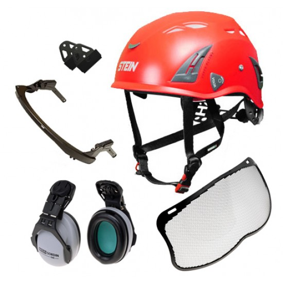 Mesh - Stein Plasma AQ Work Helmet - with MSA Fittings