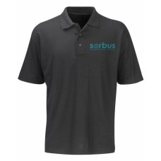 Sorbus Short Sleeve Black Polo