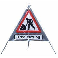 Tree Cutting Road Sign